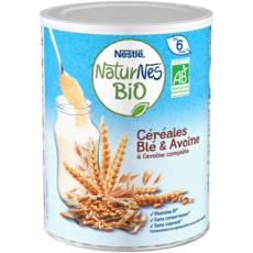NATURNES BIO Céréales bio en poudre au blé et à l'avoine dès 6 mois 240g