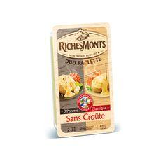 RICHESMONTS Fromage à raclette nature et poivre 420g