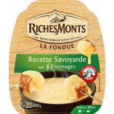 RICHESMONTS Fondue savoyarde aux 3 fromages 450g