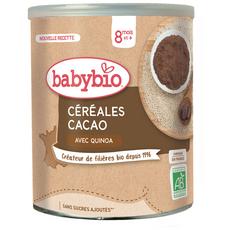 BABYBIO Céréales bio en poudre au cacao dès 8 mois 220g