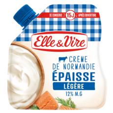 ELLE & VIRE Crème fraîche épaisse légère 12%MG 33cl