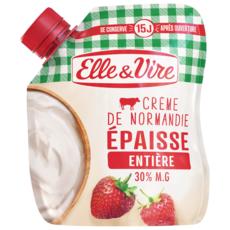 ELLE & VIRE Crème fraîche épaisse entière 30%MG 33cl