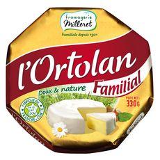 L'ORTOLAN Fromage à pâte molle au lait de vache pasteurisé 330g
