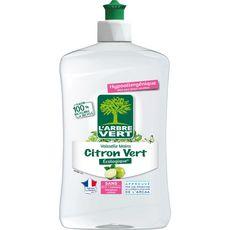 L'ARBRE VERT Liquide vaisselle et mains concentré Ecolabel citron vert 500ml