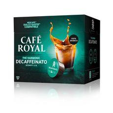 CAFE ROYAL Café décaféiné en capsule pour Dolce Gusto 16 dosettes 106g