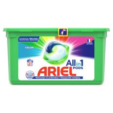 ARIEL Pods capsules de lessive tout en 1 spécial couleur 31 lavages 31 capsules