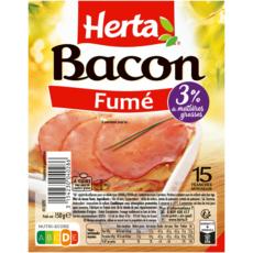 HERTA Bacon fumé 15 tranches 150g