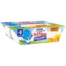 Nestlé NESTLE P'tit onctueux pot dessert lacté mangue et abricot dès 10 mois