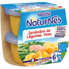 NESTLE Naturnes bol jardinière de légumes et veau dès 6 mois 2x190g