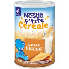 NESTLE P'tite céréale en poudre biscuité dès 6 mois 400g