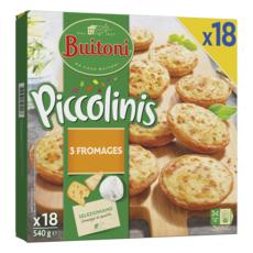 BUITONI Piccolinis Mini pizza aux 3 fromages 18 pièces  540g