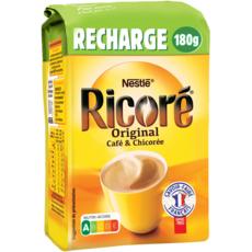NESTLE Café chicorée soluble Ricoré original éco pack 180g