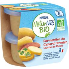 NESTLE Naturnes bol hachis parmentier de canard bio dès 8 mois 2x190g