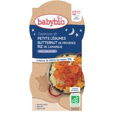 BABYBIO Bols tendresse de petits légumes & riz bio dès 12 mois 2x200g
