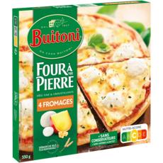 BUITONI Pizza 4 fromages fine et croustillante 330g