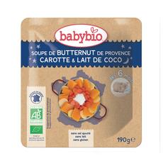 BABYBIO Bol soupe butternut carotte lait de coco bio dès 6 mois 190g