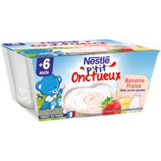 Nestlé NESTLE P'tit onctueux pot fromage blanc fraise banane dès 6 mois