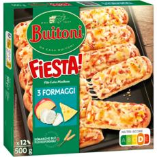 BUITONI Pizza fiesta aux 3 fromages à partager 12 pièces 500g