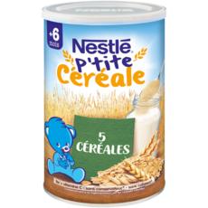 NESTLE P'tite céréale aux 5 céréales en poudre dès 6 mois 400g