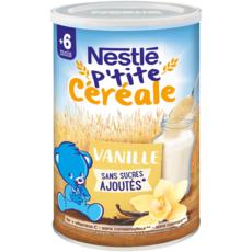 NESTLE P'tite céréale à la vanille en poudre dès 6 mois 400g