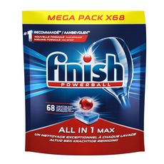 FINISH Powerball tablettes lave-vaisselle film hydrosoluble 68 lavages 68 tablettes