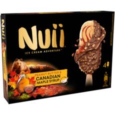 NUII Bâtonnet glacé peanut butter 4 pièces 272g