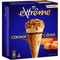 EXTREME Cône glacé cookie caramel 4 pièces 284g