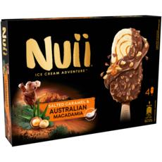 NUII Bâtonnet glacé salted caramel et Australian macadamia 4 pièces 272g