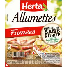 HERTA Allumettes fumées sans nitrite 2x75g