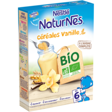 NESTLE Naturnes céréales à la vanille bio en poudre dès 6 mois 240g