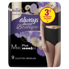 Always ALWAYS Discreet Culottes pour fuites urinaires plus noir M 36-44
