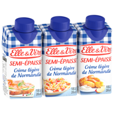 Elle & Vire ELLE & VIRE Crème semi-épaisse légère 18%MG UHT