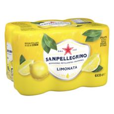 SAN PELLEGRINO Boisson pétillante aromatisée au jus de citron btes 6x33cl