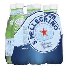 SAN PELLEGRINO Eau minérale naturelle gazeuse bouteilles 6x50cl