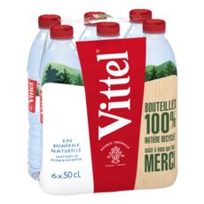 VITTEL Eau minérale naturelle plate bouteilles 6x50cl
