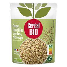 CÉRÉAL BIO Orge lentilles vertes et riz rouge au naturel sans conservateur en poche 1 personne 250g