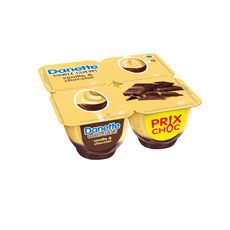 DANETTE Crème dessert à la vanille et au chocolat 4x125g