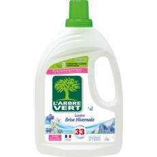 L'ARBRE VERT Lessive liquide brise hivernal  33 lavages 1,5l