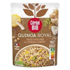 CÉRÉAL BIO Quinoa royal vegan pois chiches et citron confit au lait de coco en poche 220g