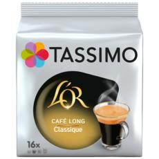 TASSIMO Dosettes de café L'Or espresso café long classique 16 dosettes 104g