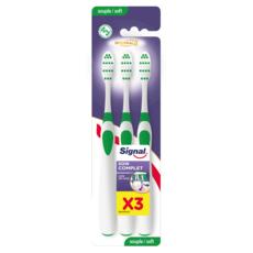 SIGNAL Integral 8 Brosse à dents souple 3 pièces
