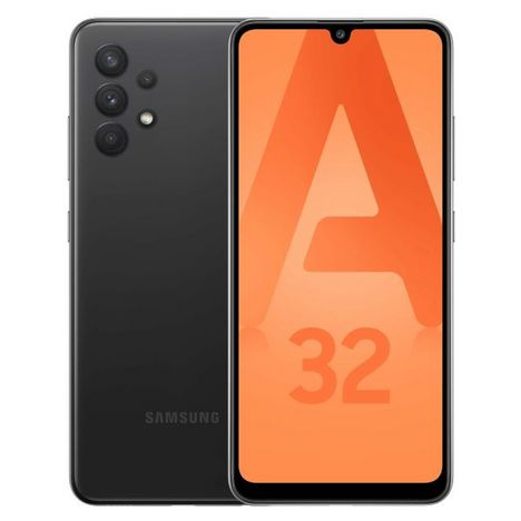 SAMSUNG Smartphone Galaxy A32  4G  128 Go  6.4 pouces Noir Double NanoSim