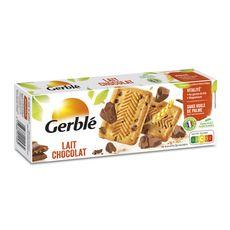 GERBLE Biscuits lait chocolat, sachets fraîcheur 4x5 biscuits 230g