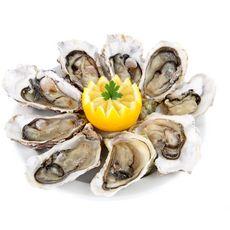 Huîtres fines de Bretagne élevées en France calibre n°2  Bourriche de 18 pièces 2kg