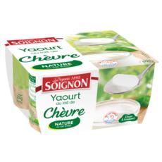 SOIGNON Yaourt nature au lait de chèvre 4x125g