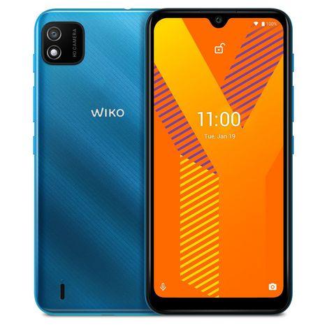 WIKO Smartphone Y62  4G  16 Go  6.1 pouces Bleu clair  Double Nano Sim