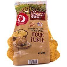 AUCHAN Pommes de terre four purée filière responsable 2,5kg