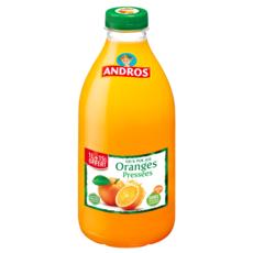ANDROS Pur jus d'oranges pressées source de vitamine C 1l +15% offert