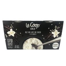 LA COOP Dessert végétal riz au lait de coco à la vanille 2x125g
