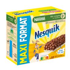 NESQUIK Barres de céréales maxi format 12 barres 12x25g